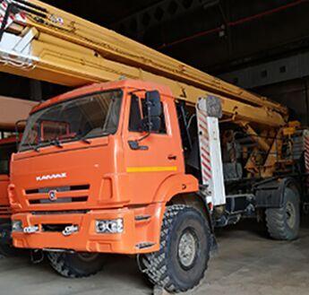 KAMAZ 43502 PZGT PSS-121.22-06  bucket truck