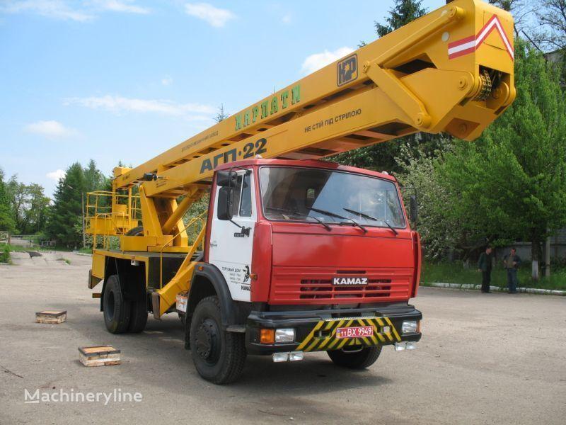 new KAMAZ Avtogidropodemnik AGP-22 (Avtovyshka) bucket truck