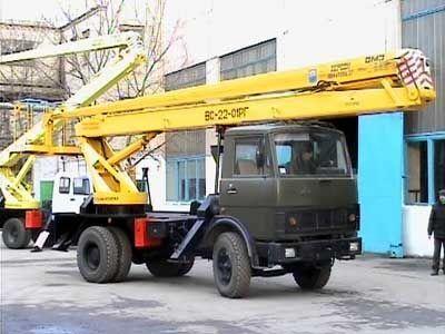 new KAMAZ VS—22-01  bucket truck