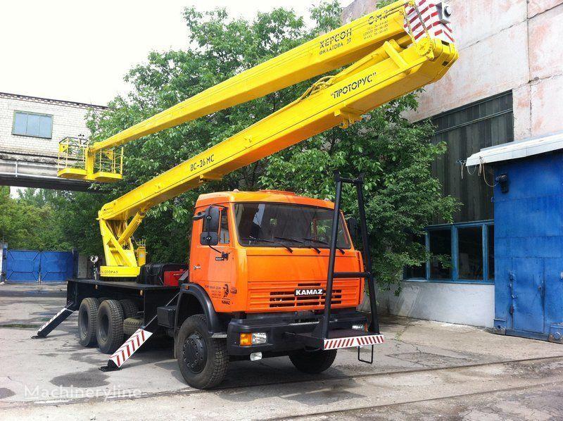 new KAMAZ VS—26  bucket truck