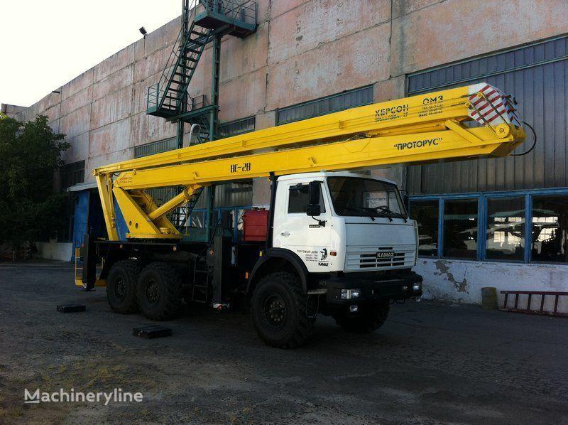 new KAMAZ VS—28  bucket truck