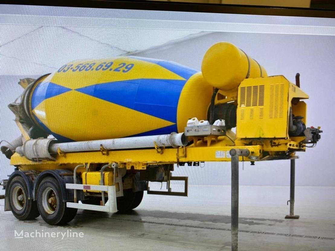 DE BUF concrete mixer semi-trailer