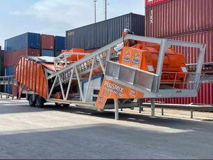 new Plusmix 100 m³/hour MOBILE Concrete Plant - BETONNYY ZAVOD - CENTRALE A  concrete plant