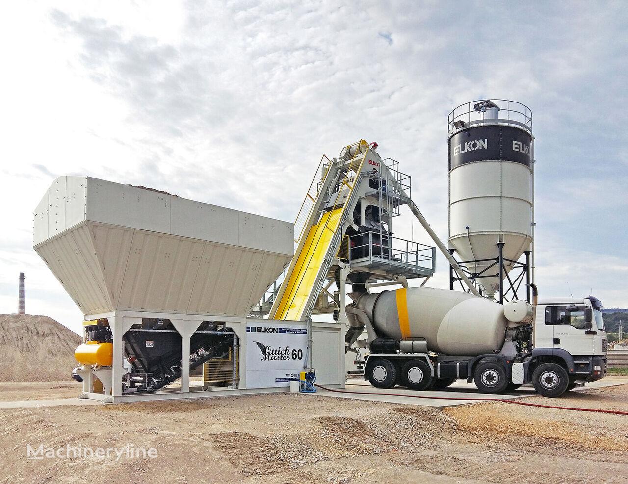 new ELKON ELKOMIX-60 QUICK MASTER COMPACT CONCRETE BATCHING PLANT concrete plant