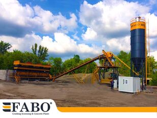 new FABO 75m3/h STATIONARY CONCRETE MIXING PLANT concrete plant