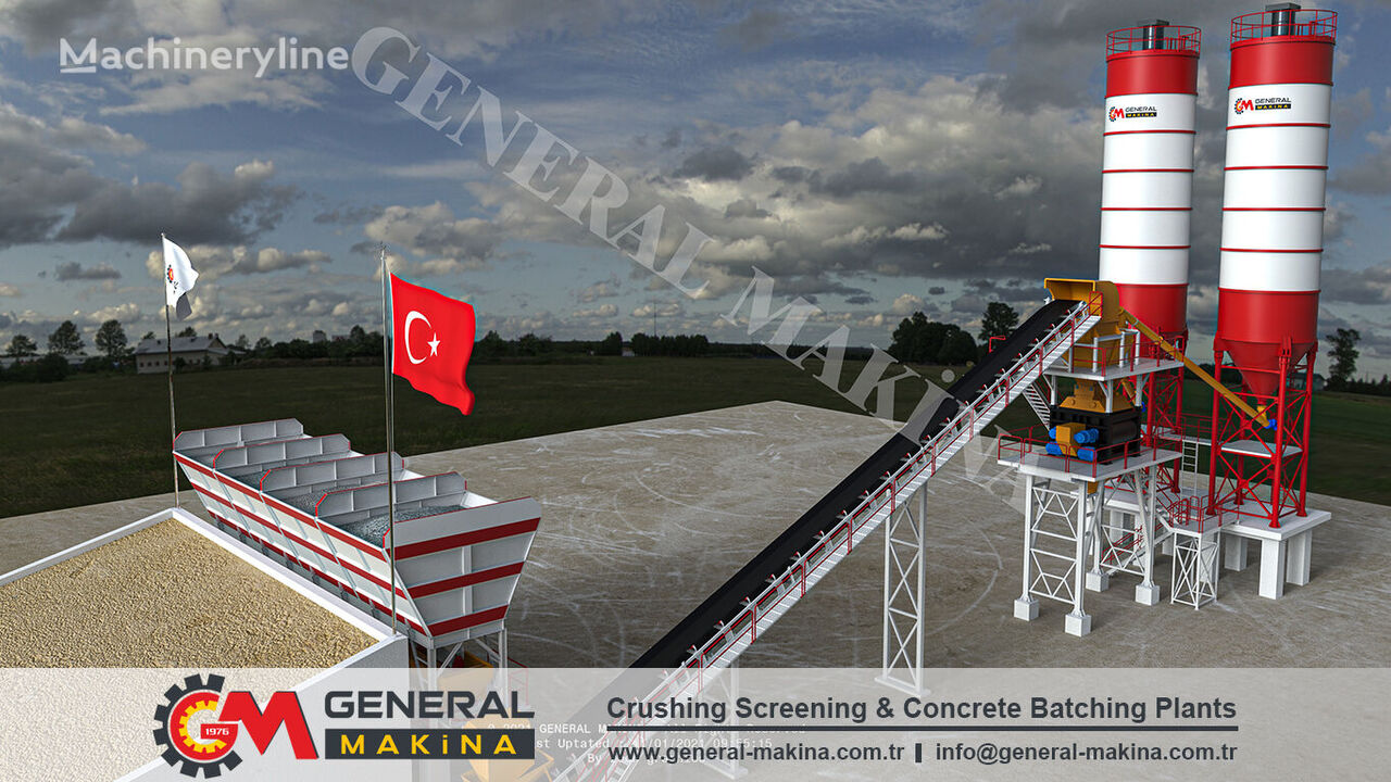 new GENERAL MAKİNA Best Price Stationary concrete plant