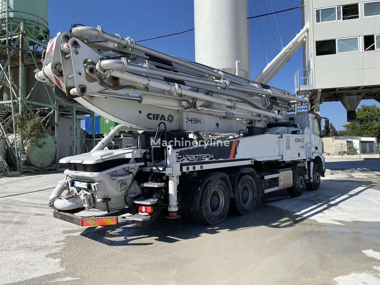 Cifa K47H on chassis MERCEDES-BENZ AROCS 4143 concrete pump
