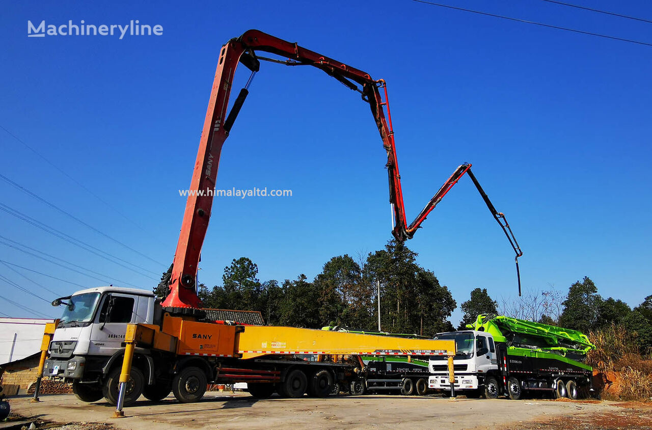 Sany 52m 2012 52X-6RZ on chassis MERCEDES-BENZ Actros 3341  concrete pump