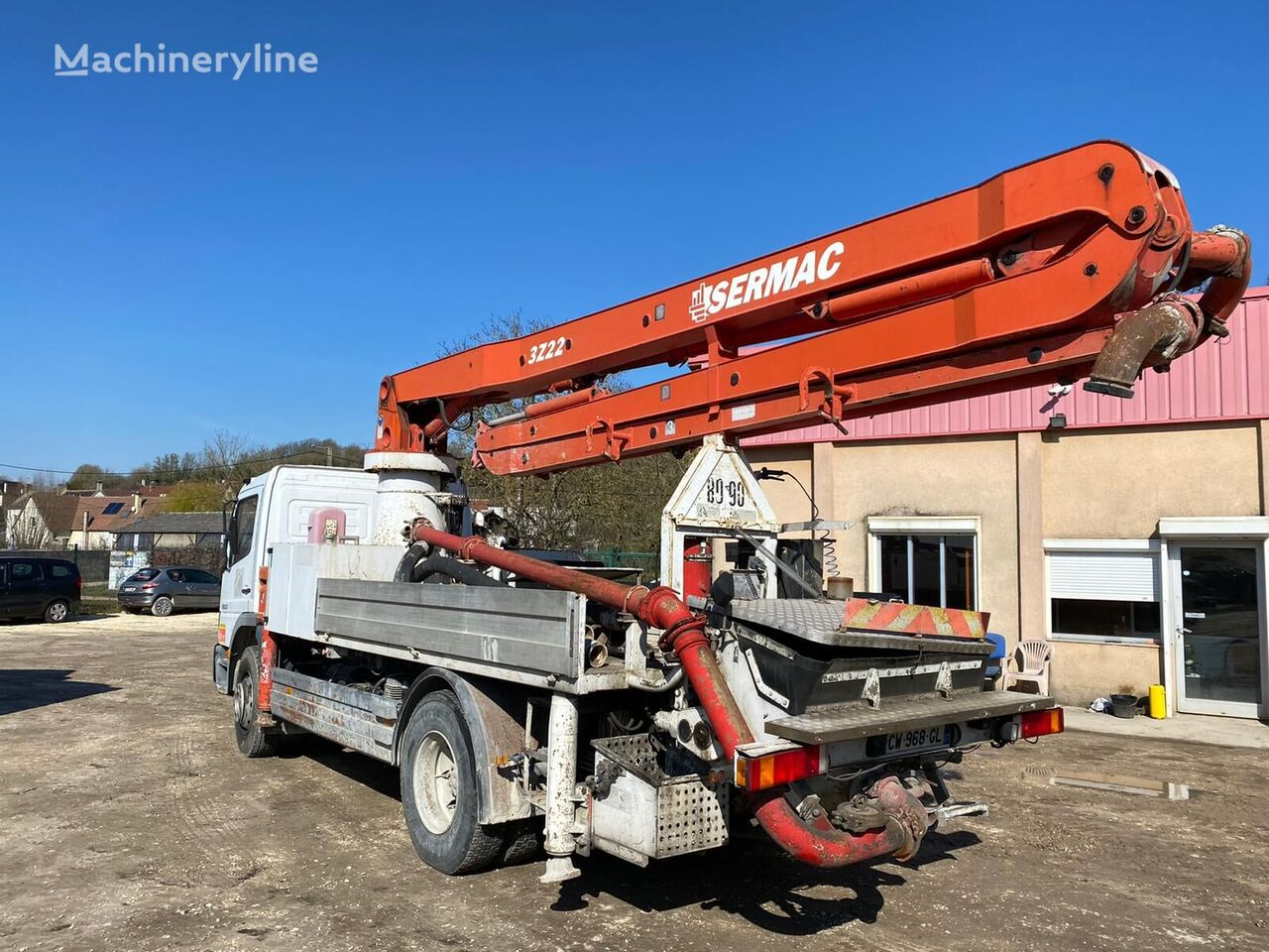 Sermac  on chassis MERCEDES-BENZ Atego 1623  concrete pump