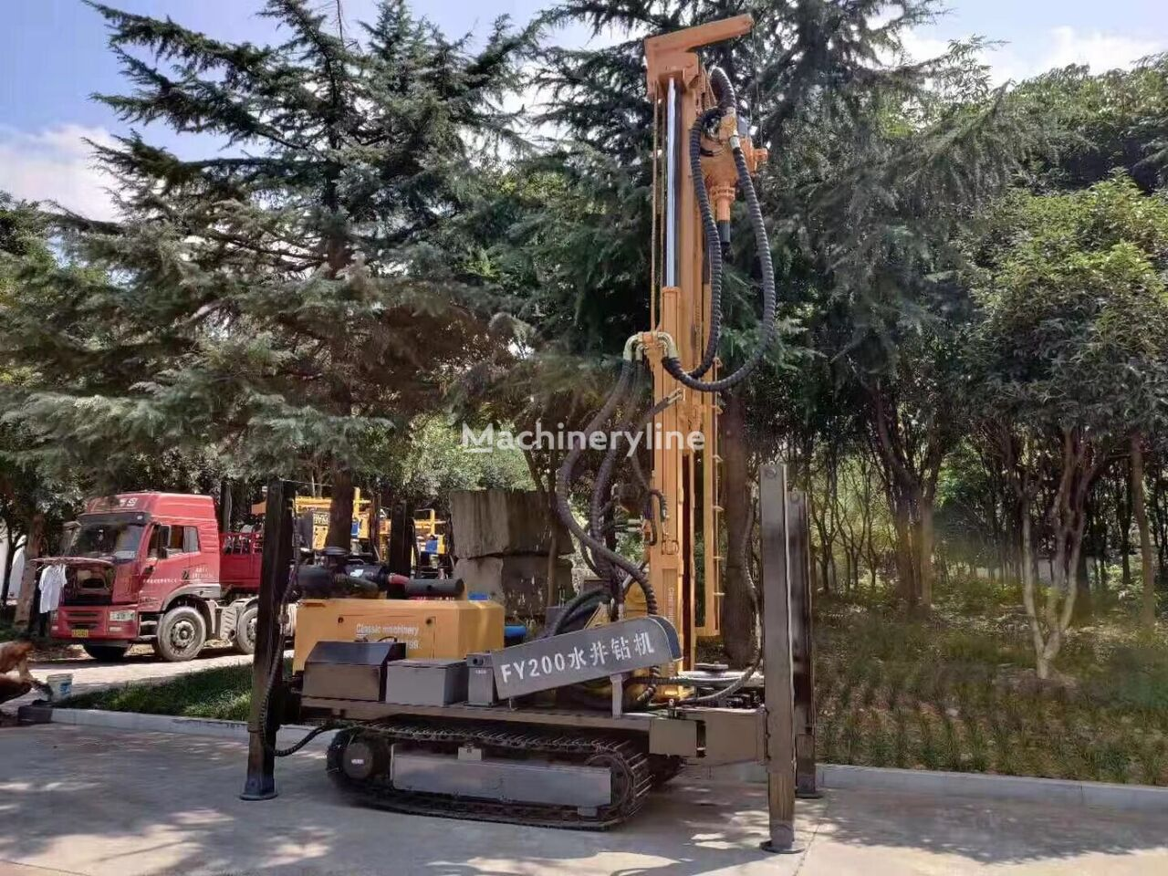 new SANROCK FY200 200m water well drilling rig drilling rig