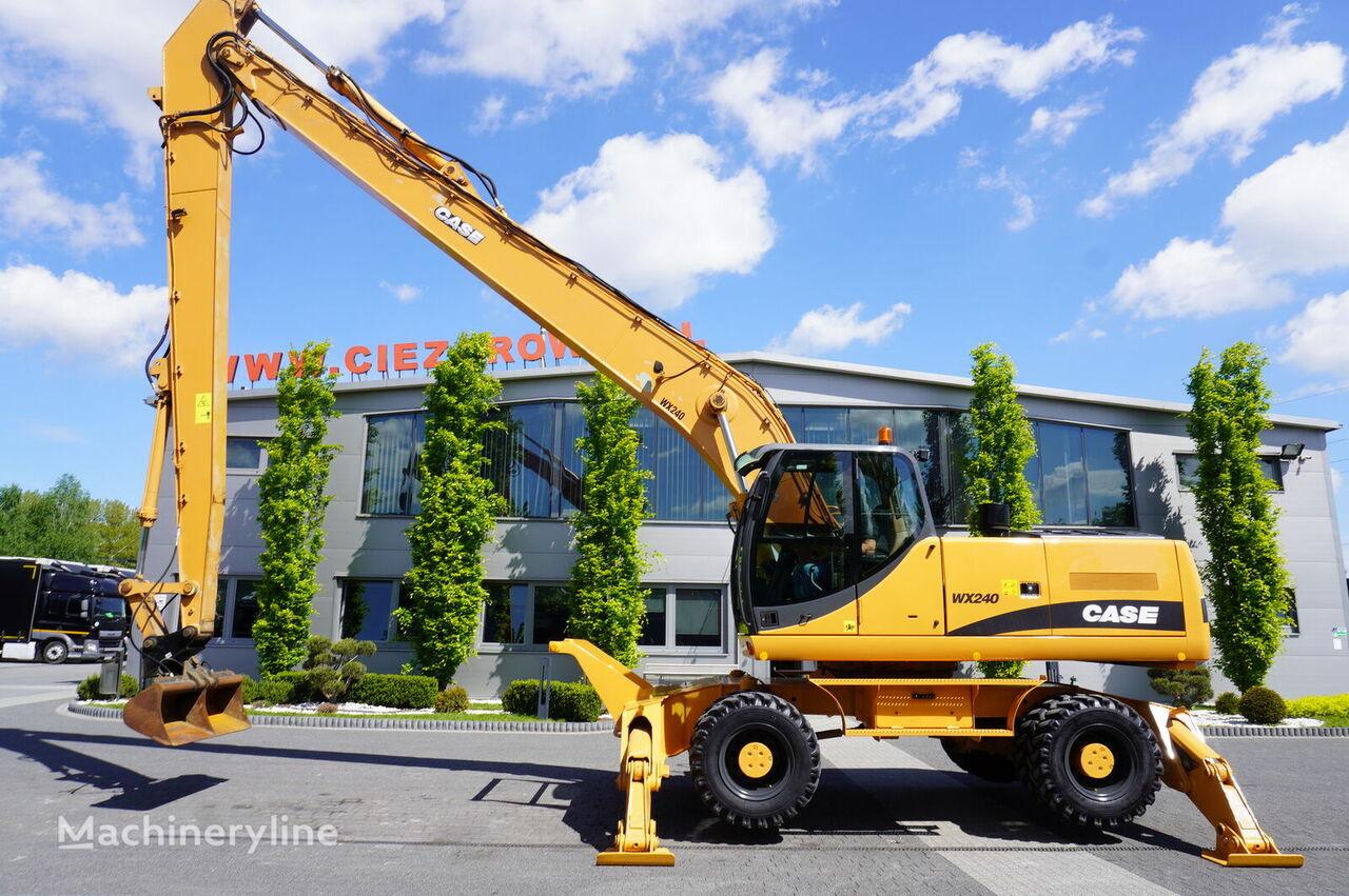 CASE WX240 , 23t , LONG REACH 16m , 4k MTH , hydraulic bucket , joyst tracked excavator