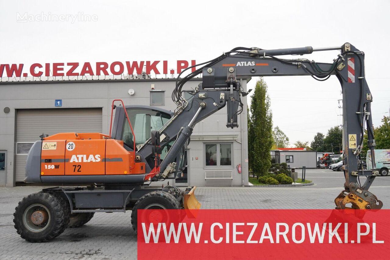 ATLAS W 150 , 16 t , OFFSET BOOM , scarp hydraulic  bucket , blade , j wheel excavator