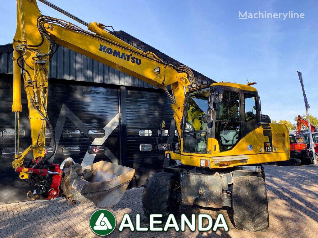KOMATSU PW 140-7 wheel excavator