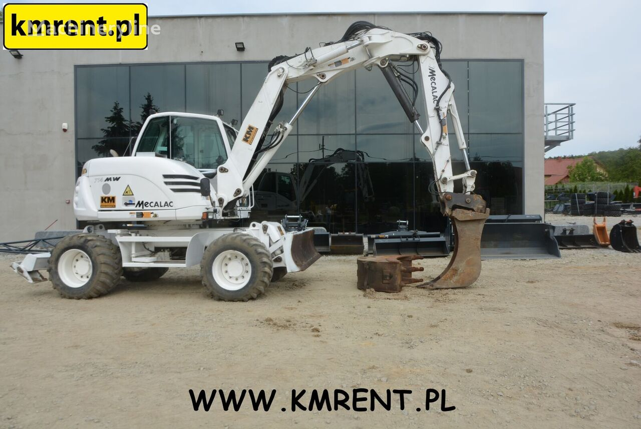 MECALAC 714 MW | KOMATSU PW 98 110 118 CAT 432 428 VOLVO BL 71 61 TEREX  wheel excavator