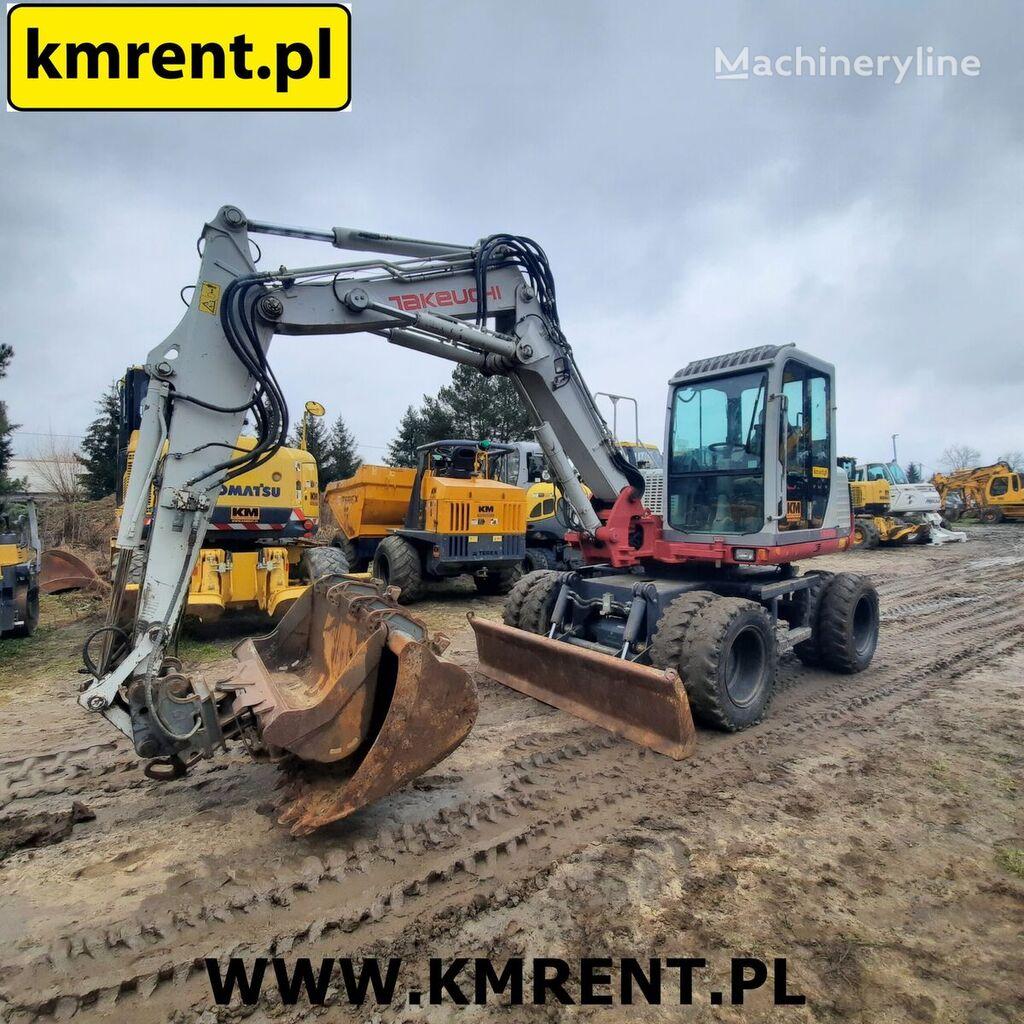 TAKEUCHI TB 175 W KOPARKA KOŁOWA | WACKER NEUSON 6503 KOMATSU PW 98 110 1 wheel excavator