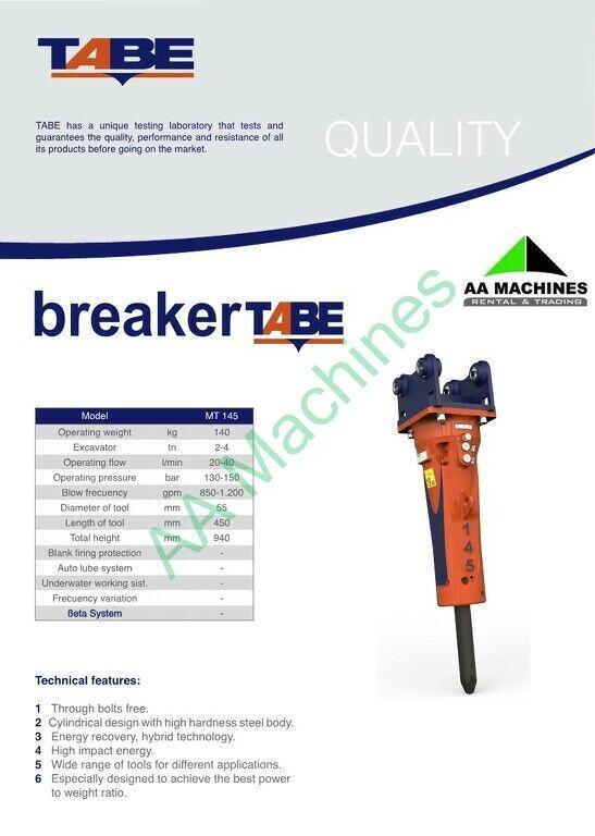 new Tabe MT145 hydraulic breaker