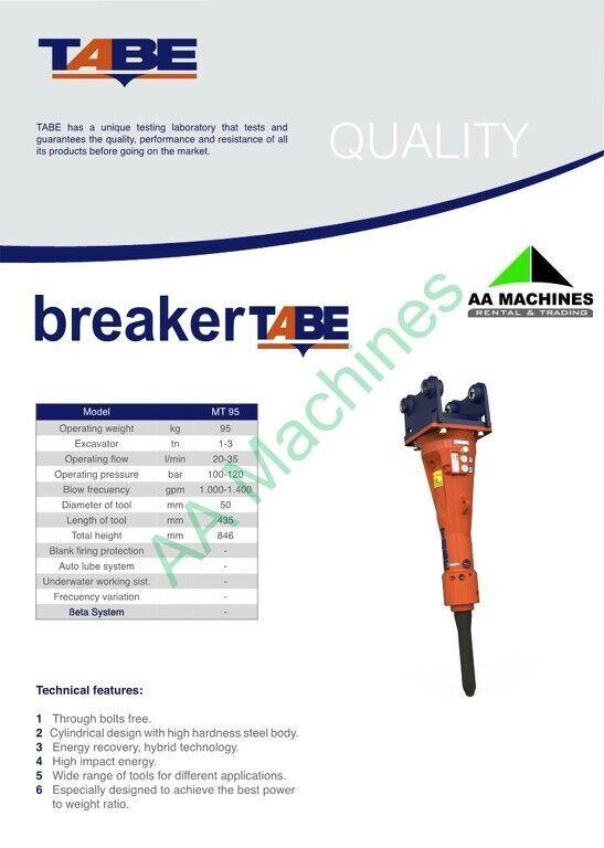 new Tabe MT95 hydraulic breaker