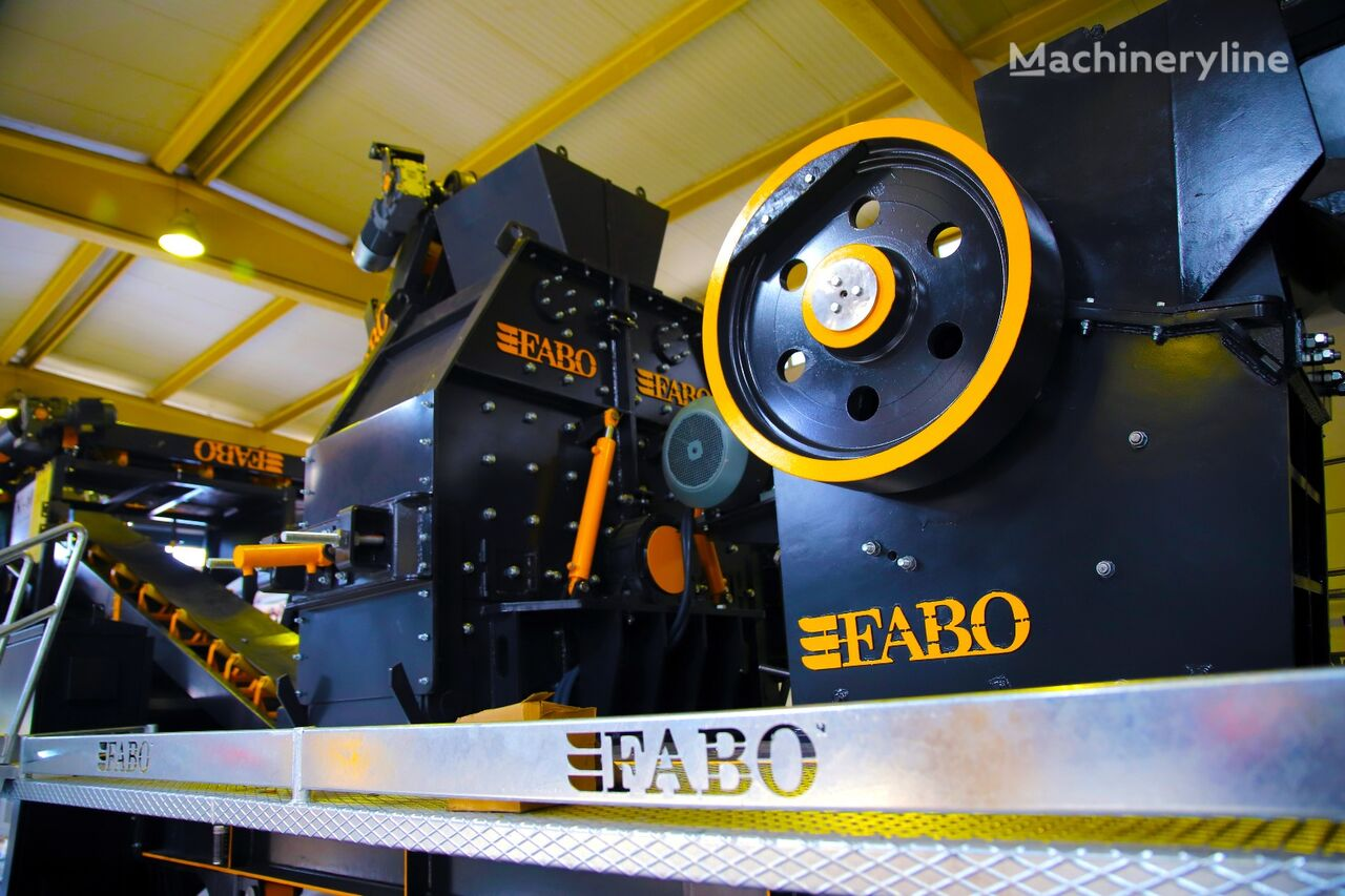 new FABO CLK-60 SERIES 60-120 TPH PRIMARY JAW CRUSHER jaw crusher