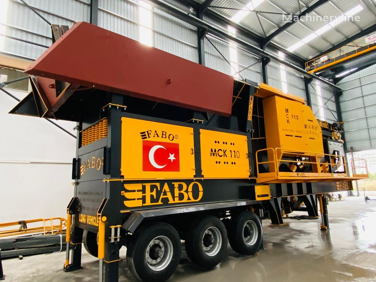 new FABO MCK-110 MOBILE CRUSHING & SCREENING PLANT | JAW+SECONDARY jaw crusher