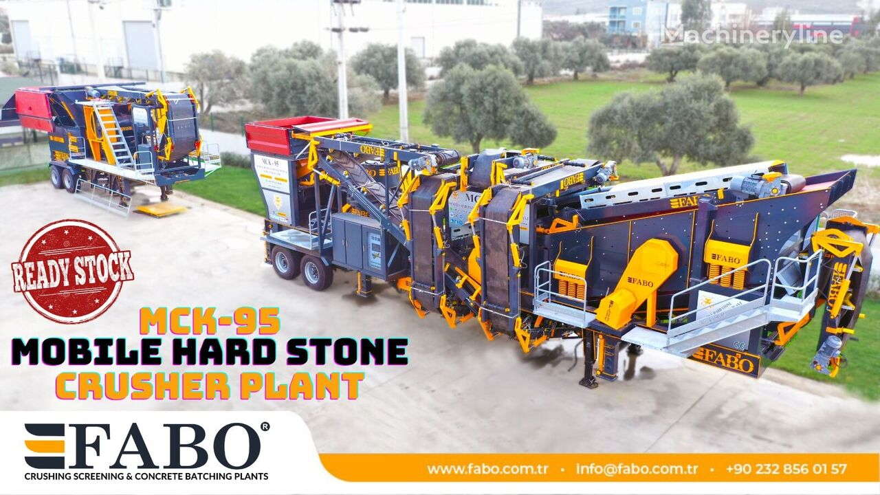 new FABO MCK-95 MOBILE CRUSHING & SCREENING PLANT   JAW+CONE jaw crusher
