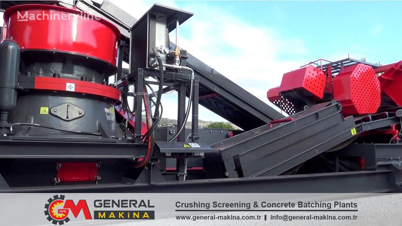 new GENERAL MAKİNA 944 Hard River Stone Crusher mobile crushing plant