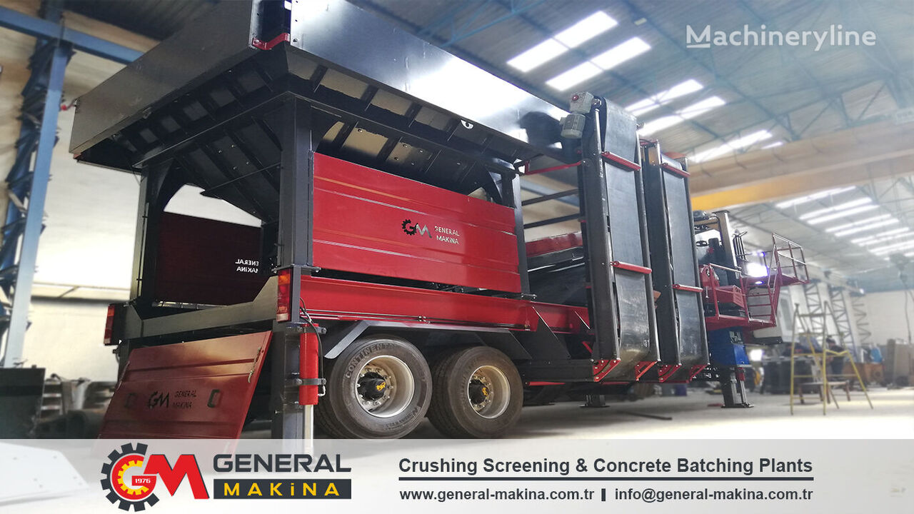 new GENERAL MAKİNA Mobile Sand Screening vibrating screen