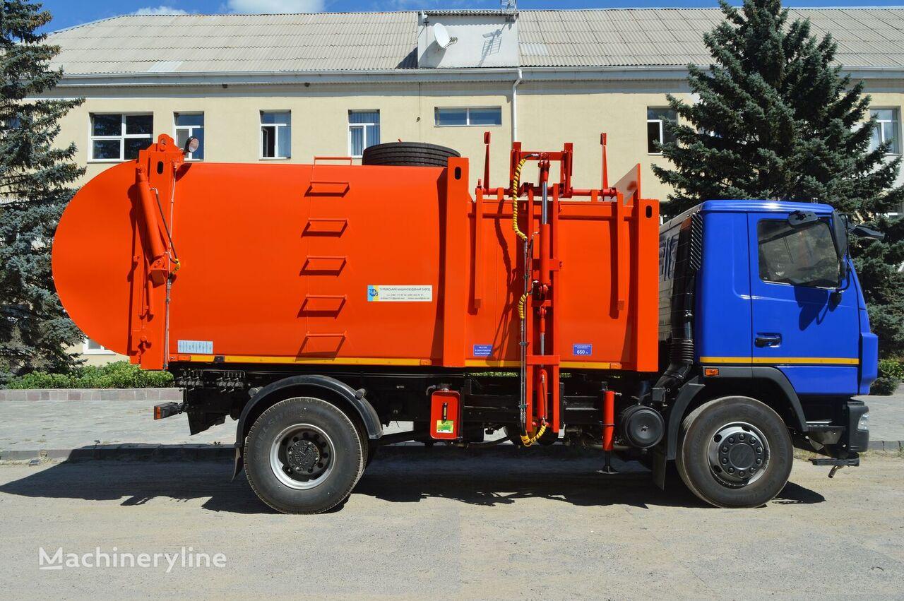 new MAZ KO-426 garbage truck
