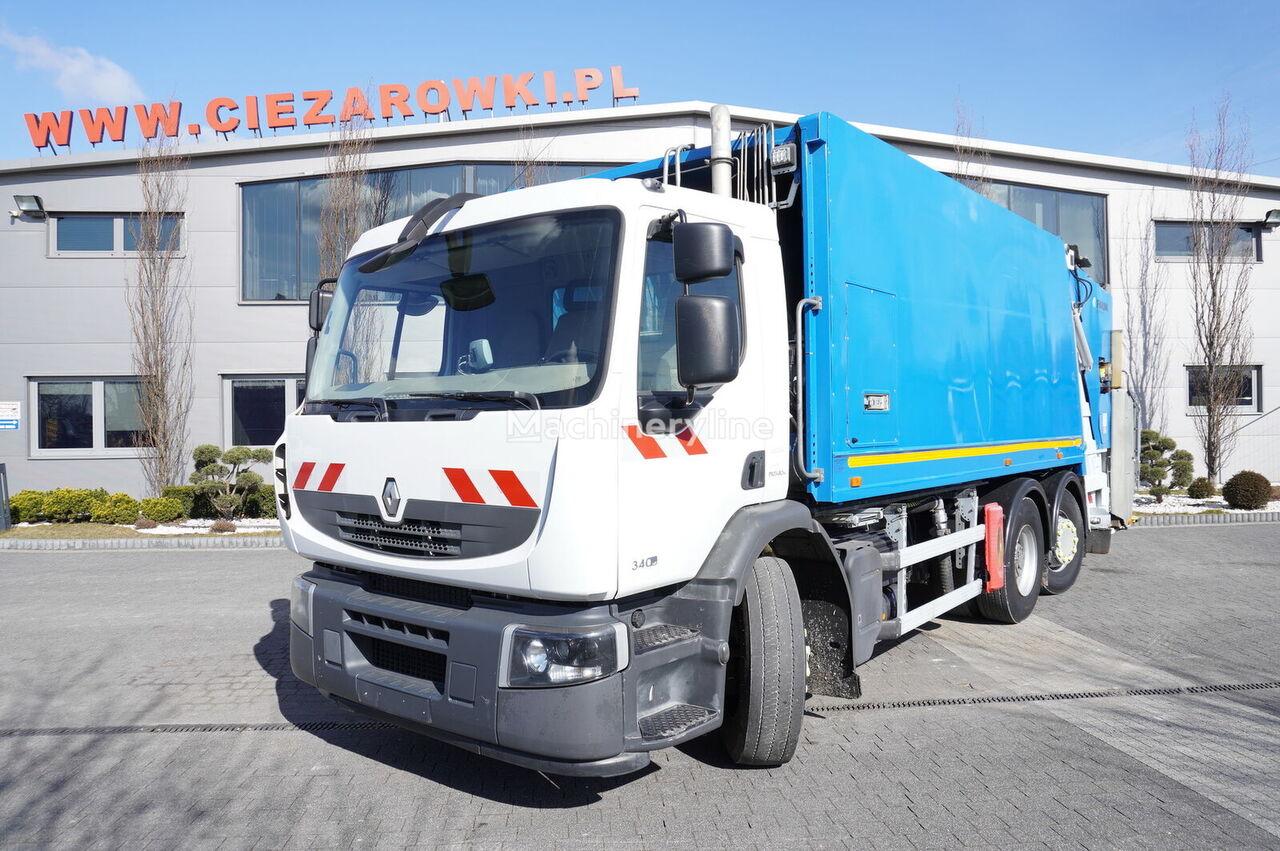 RENAULT Premium 340DXI, E5, 6x2, FAUN 20m3 tripple throw, steering a garbage truck