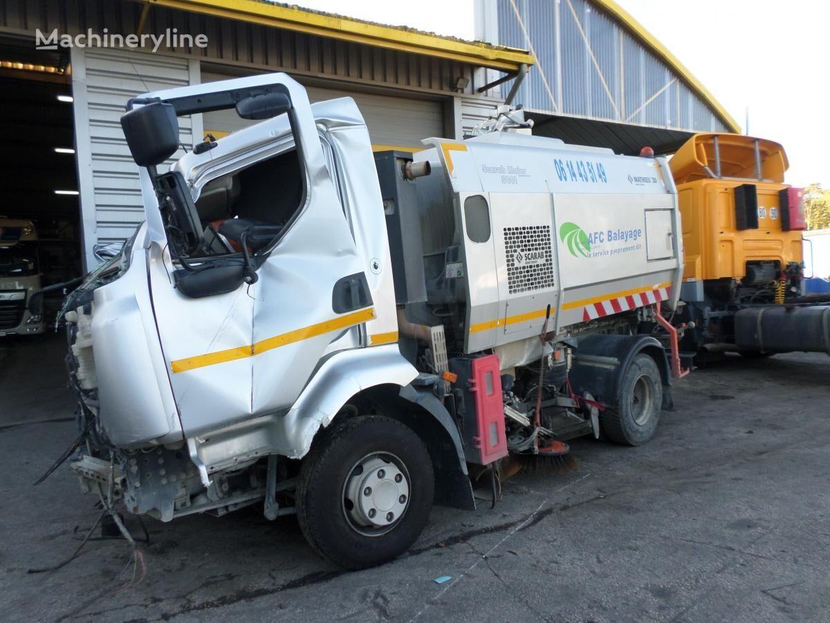 damaged RENAULT Midlum MAJOR 50 road sweeper