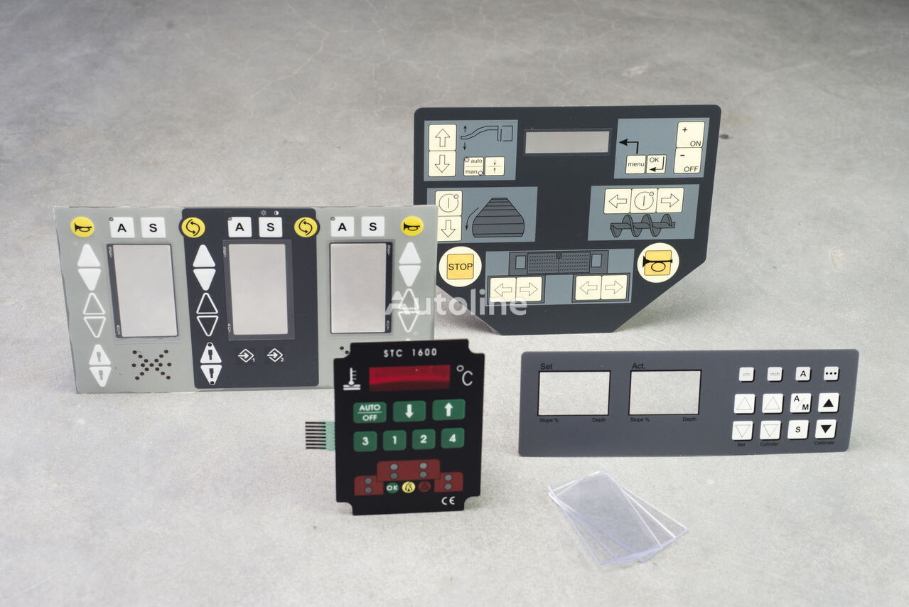dashboard for VÖGELE VOLVO, ABG, TITAN, DYNAPAC, BOMAG, DEMAG asphalt paver